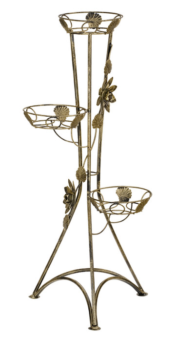 3-pot column plant stand with roses Model 129C