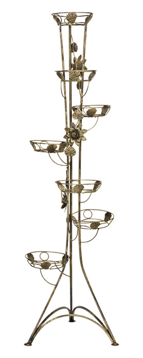 7-pot column plant stand with roses Model 131A
