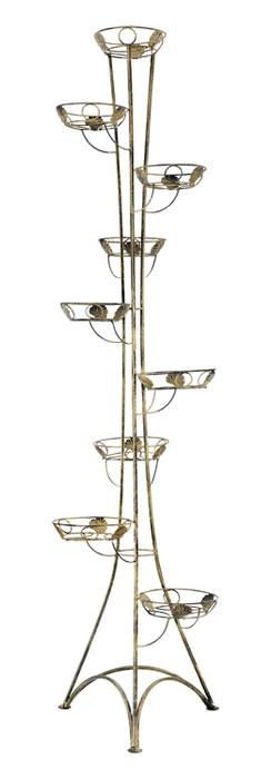 9-pot column plant stand Model 131B