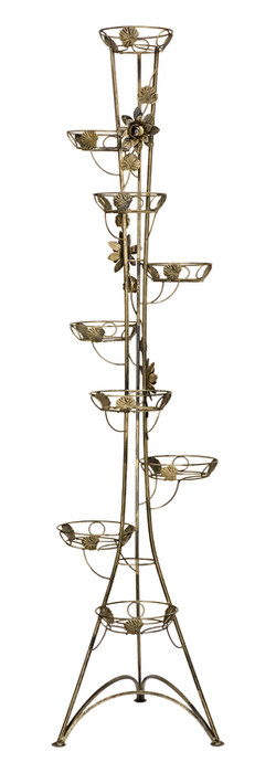 9-pot column plant stand with roses Model 131C