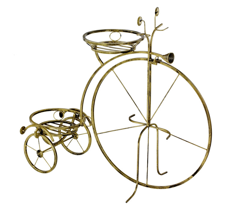 Large bicycle-shaped plant stand Model 132