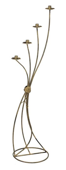 Metal 4-candle holder Model 19