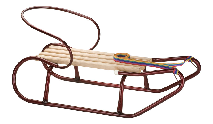 Sled with a backrest Model 259