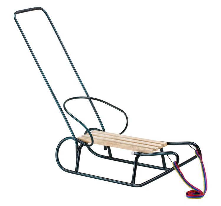 Sled with a backrest and a handle Model 259B