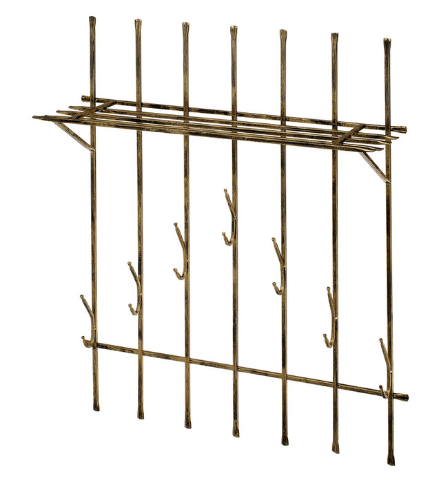 Wall mounted coat rack with a shelf Model 310