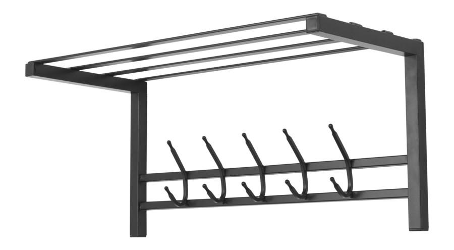 Wall-mounted coat rack with a shelf Loft 70 Model 474