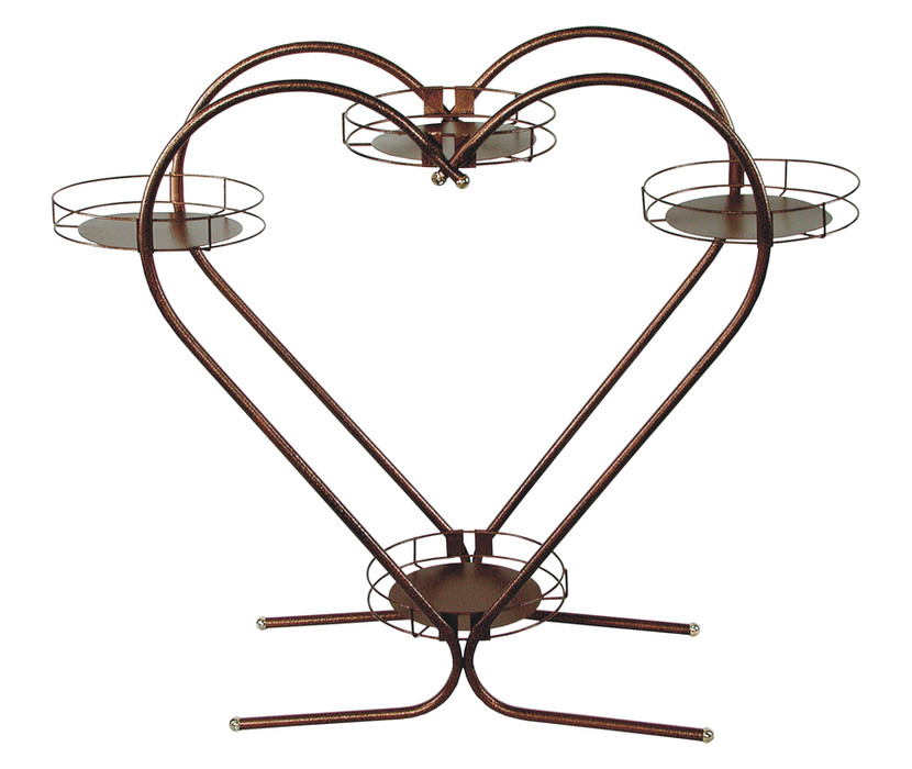 Heart-shaped plant stand Model 81